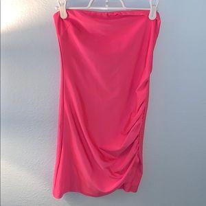 Neon body on dress